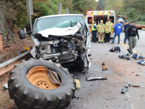 Highway 29 Delivery Van Accident (Jefrey Leo/The Newnan Times-Herald)