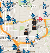 March 2015 Crime Map of Midtown Robberies, Thefts and Shootings (spotcrime.com)