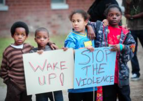 Children Attend 2012 Prayer Rally to End Violence at River Glen Apartments. (The Augusta Chronicle)