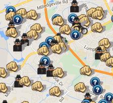 April 2015 Crime Map Surrounding America's Best Value Inn (spotcrime.com)