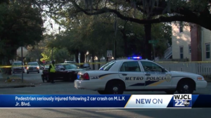 Felicia Jackson injured in Pedestrian Accident in Savannah, Georgia.