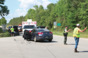 Three injured in Highway 23 South Car Accident.